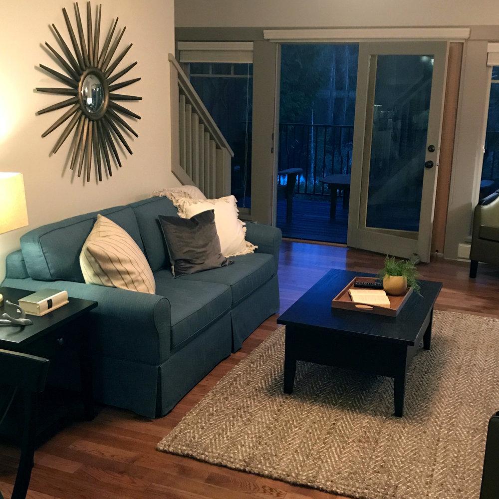 Hardwood floors and furniture