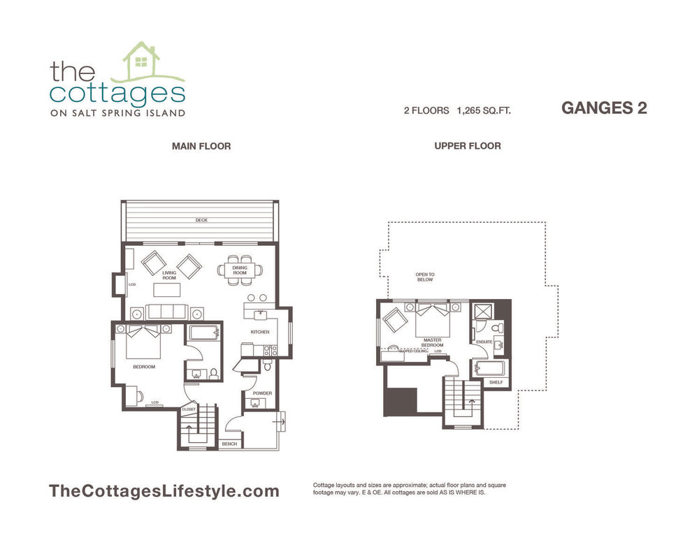 Cottages for sale - 2 Floors - 1,265 SQ.FT