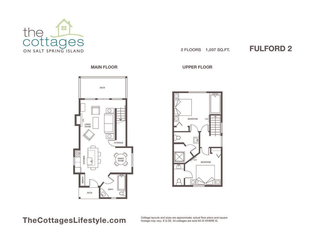 Cottages for sale - 2 Floors - 1,037 SQ.FT