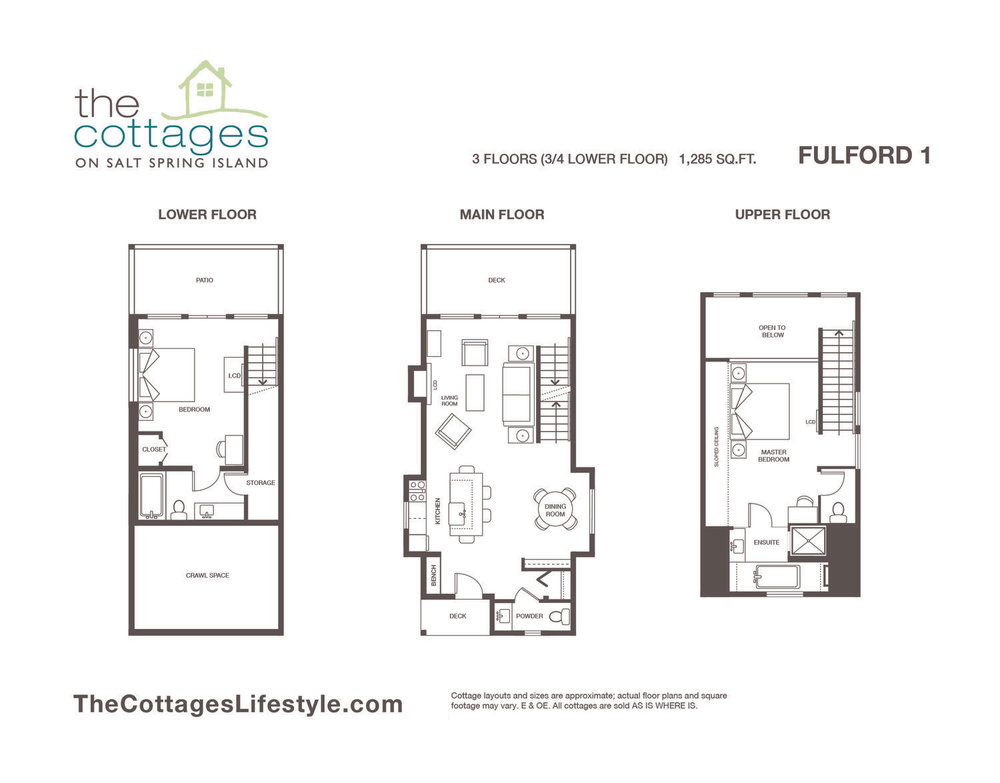 Cottages for sale - 3 Floors - 1,285 SQ.FT