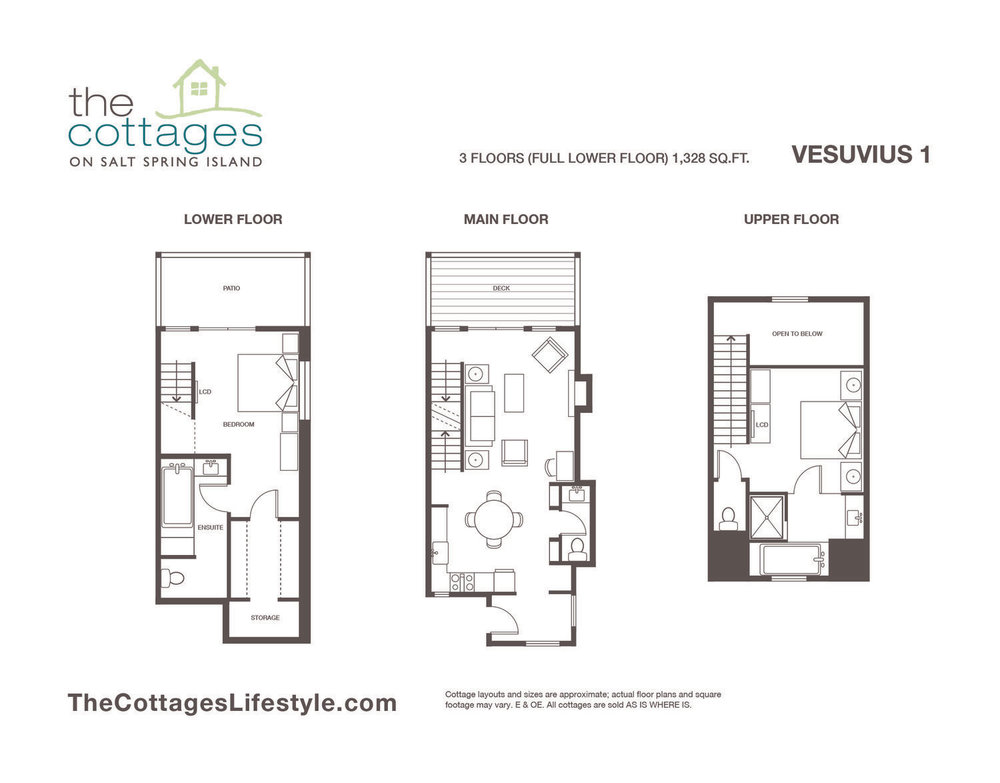 floorplans the cottages on salt spring island rh thecottageslifestyle com floor plans for small cottages floor plans for cottages with loft