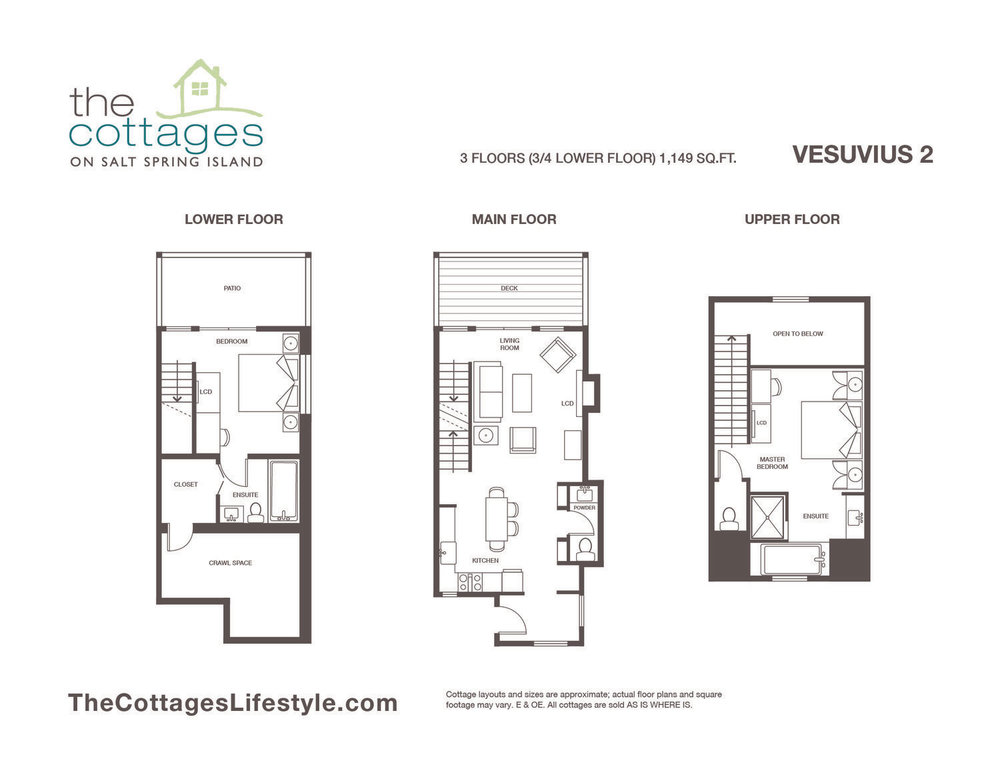floorplans the cottages on salt spring island rh thecottageslifestyle com floor plans for guest cottages floor plans for small cottages
