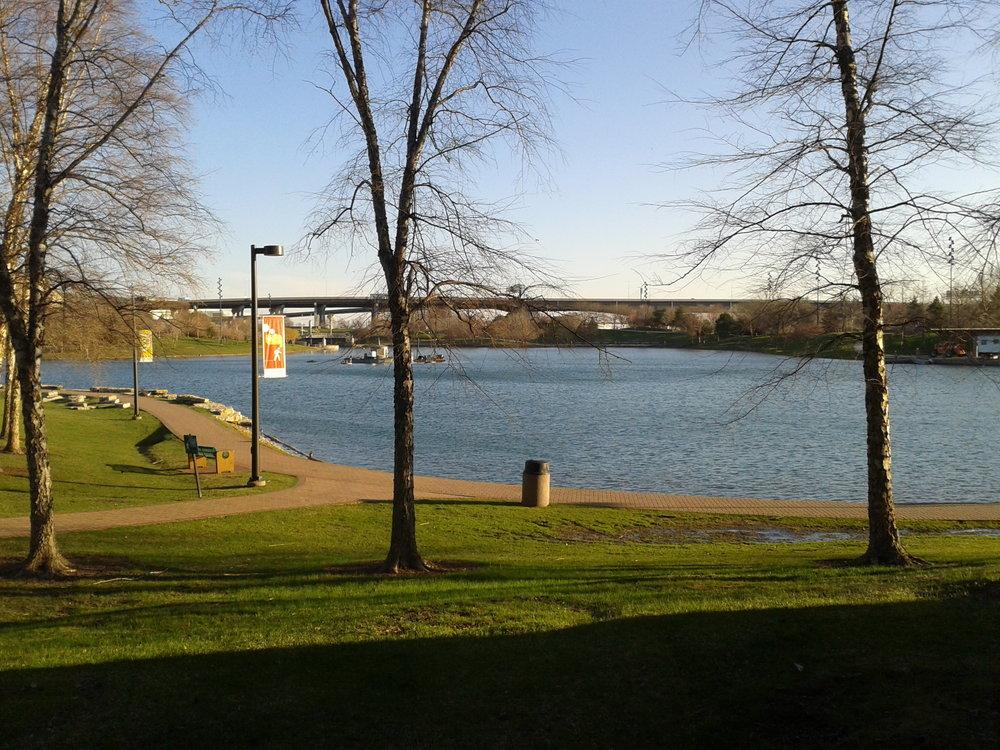 CAG Pond in April 2