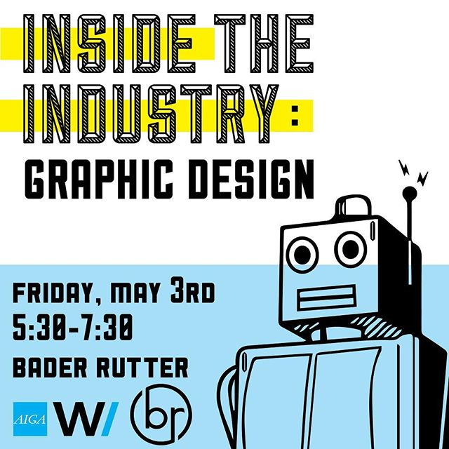 We're connecting graphic design students with our favorite designers at Inside the Industry: Graphic Design. This panel discussion lead by AIGA VP, Kennedy Imhoff, will offer an insightful and intimate conversation about graphic design as a profession.  We're stoked about the amazing artists joining us @whhitneyy @zacjacobson @nydsjmj @brandon.morreale @ksparrow !!!! Shout out to @baderrutter for hosting us! SPACE IS LIMITED and we do expect it to sell out. @aigawisconsin portfolio participants can attend this event for free! RSVP LINK IN BIO.