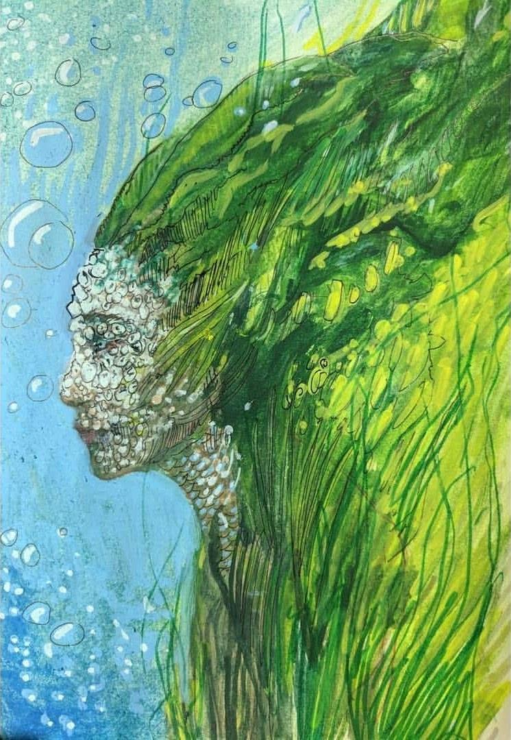 Artwork: Yvonne Hanson  'Barnacle Face'