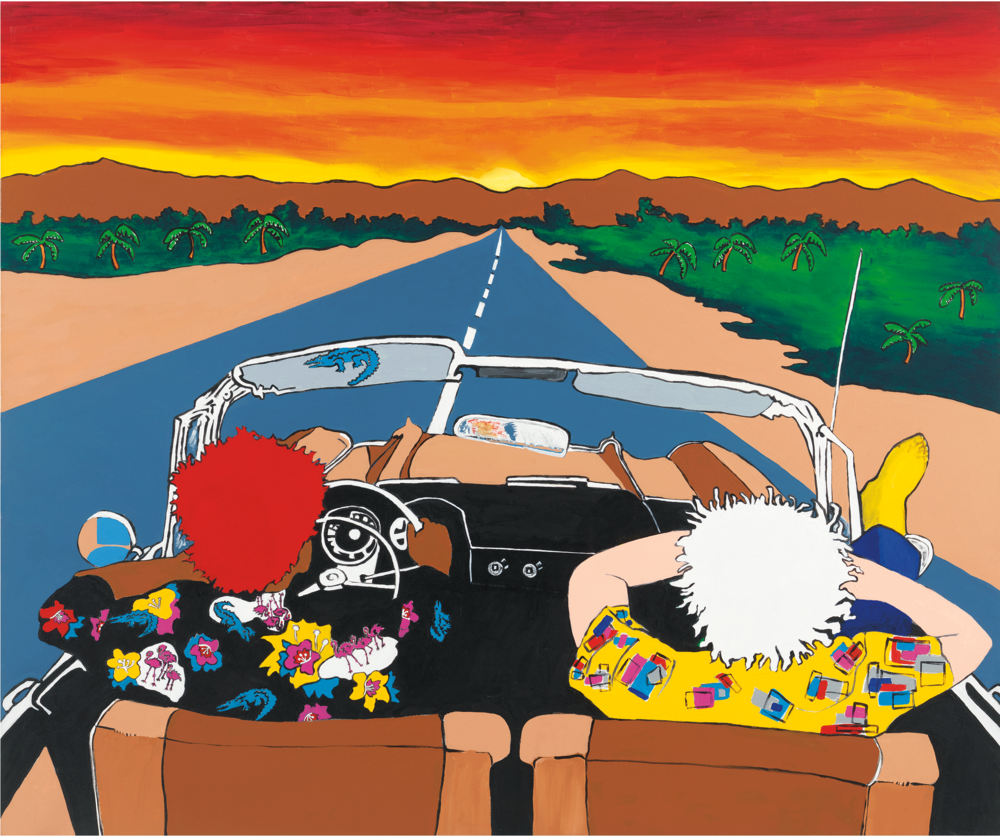 Maui Wowie (Jean-Michel and Andy Take a Trip), 1989
