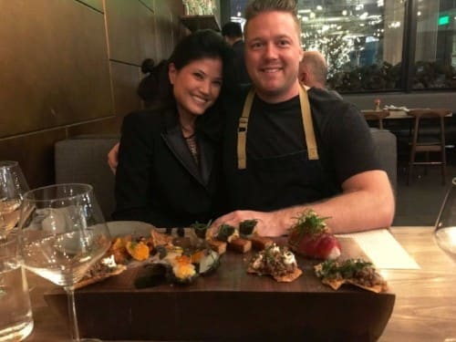 Roberta Kung Founder & CEO, GiftedTaste with Chef Timothy Hollingsworth of Otium and French Laundry.