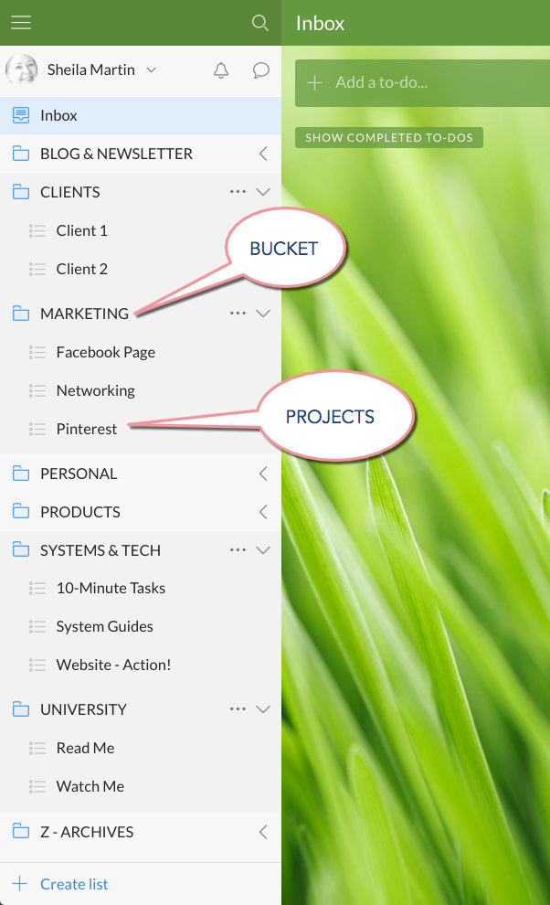 How to Create Projects in Wunderlist (with Folders)