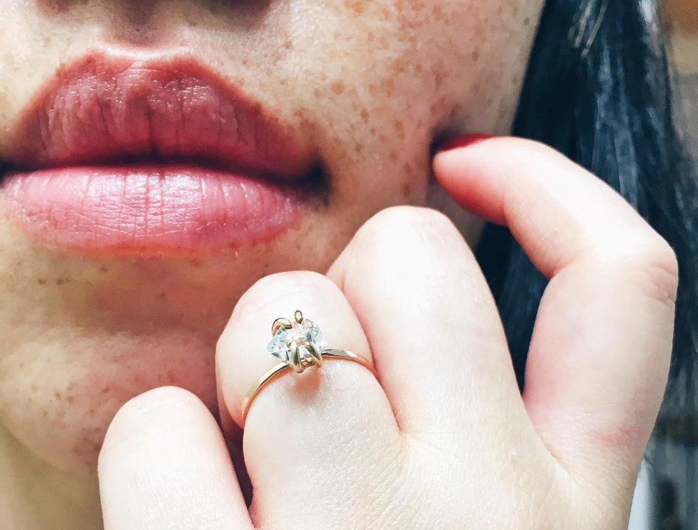 Handcrafted herkimer diamond ring: GABBYBELLA