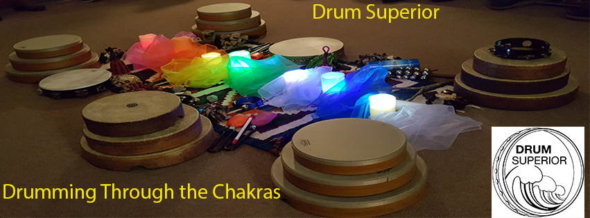 Drum Superior offers ritual, spiritual and health-based drum programs, including HealthRHYTHMS percussion circles, Drumming Through the Chakras, Drumming in the Feminine, Drumming Into Story, and Drumming for Harmony & Balance. Both Linda Melcher and Rachel Nelson are trained HealthRHYTHMS drum circle facilitators.