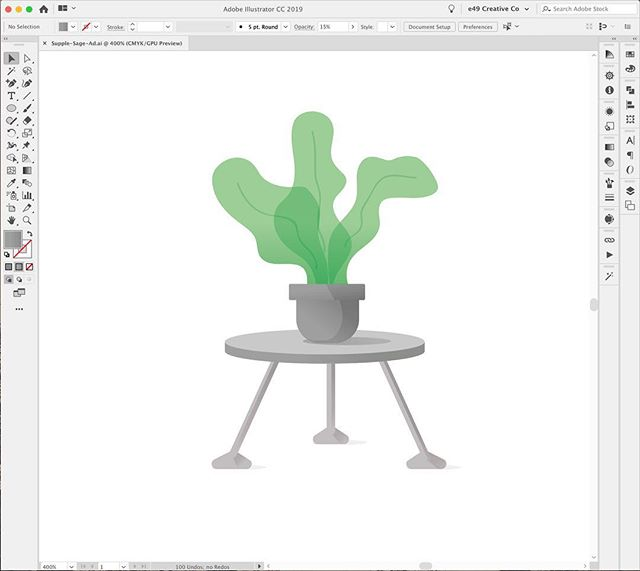 A little bit of progress on this illustration project for Supple and Sage Inc. . _____________ . . #workingprogress #graphicdesign #illustration #plantillustration #vectorart #vectorplant #creativeagency #branding #logdesigner #dailyinspiration #cleangraphics