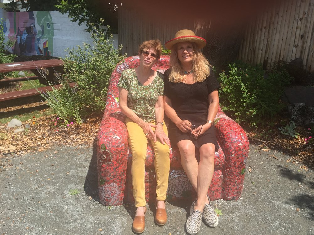 Pix of Jennifer & Sarah in Vera's Chair.JPG