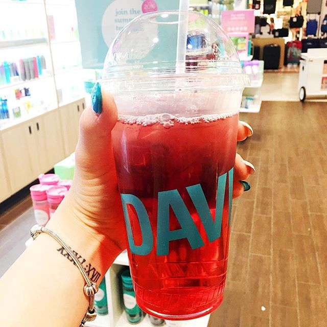 "I could go for a @davidstea right about now. Perfect for a sunny summer day. . This photo is from last weekend and the tea is called ""Magic Dragon"" so how could I not try it?? 😍"