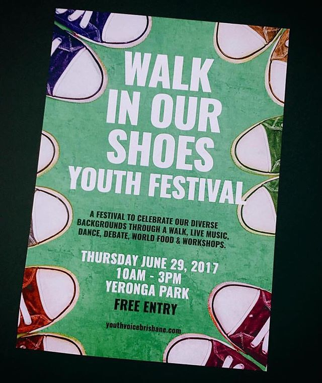 Walk in Our Shoes Festival will be on the 29th of this month! Save the date.  Where: Yeronga Park  When: Thursday the 29th of June  Time: 10am - 3pm.