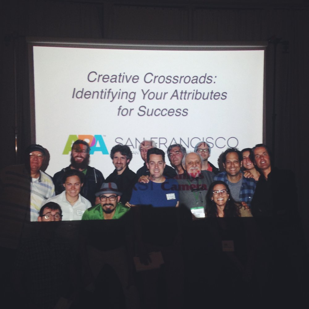 APA/San Francisco members pose after a Creative Crossroads lecture.