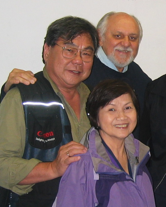 John and Harvey Chua with Tony Luna during a visit to Art Center in 2010.