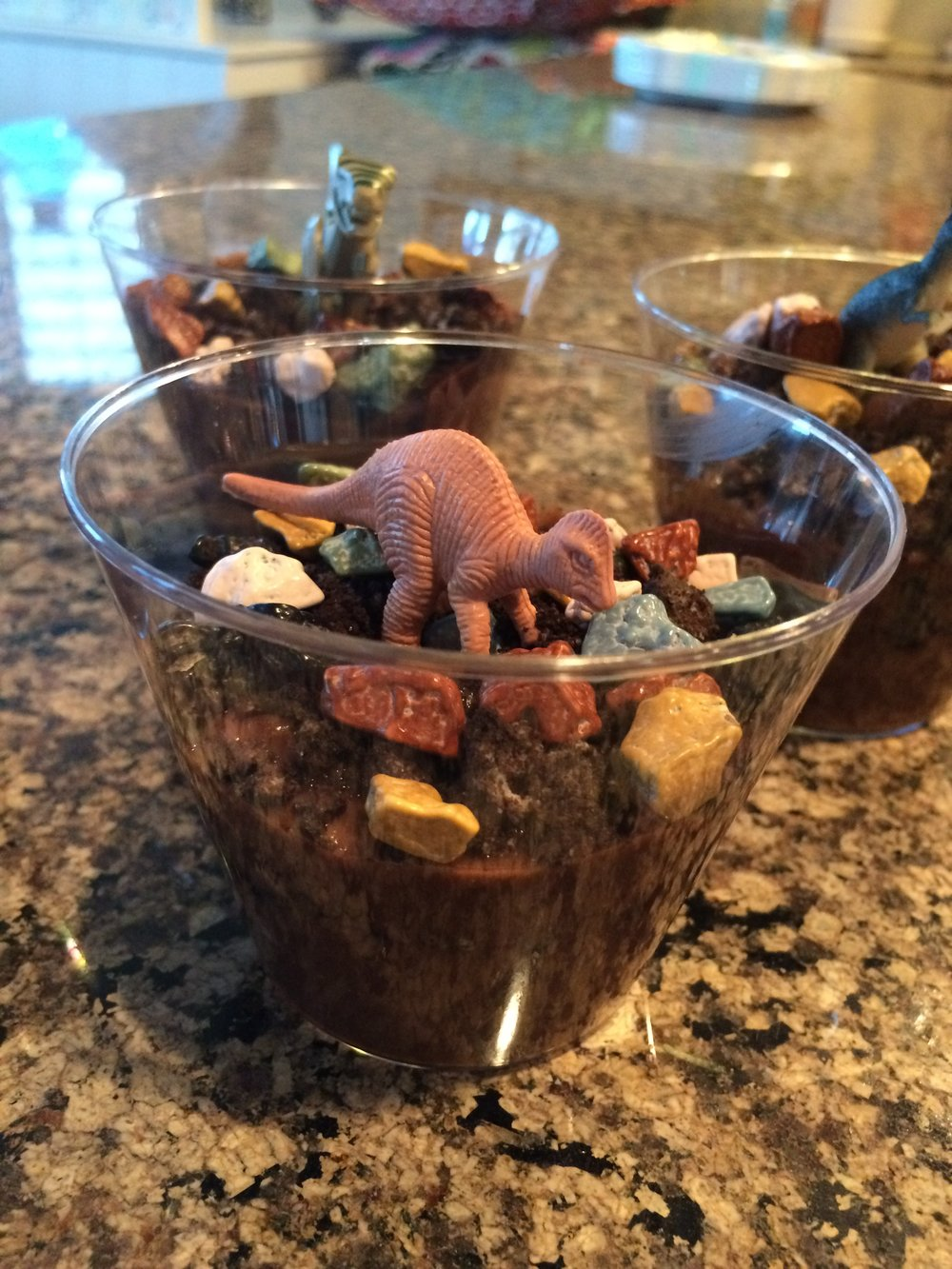 Dino dirt cups for  The Good Dinosaur
