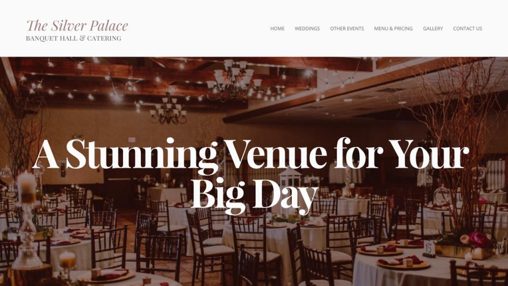 Menu Pricing The Silver Palace Wedding Reception Venue