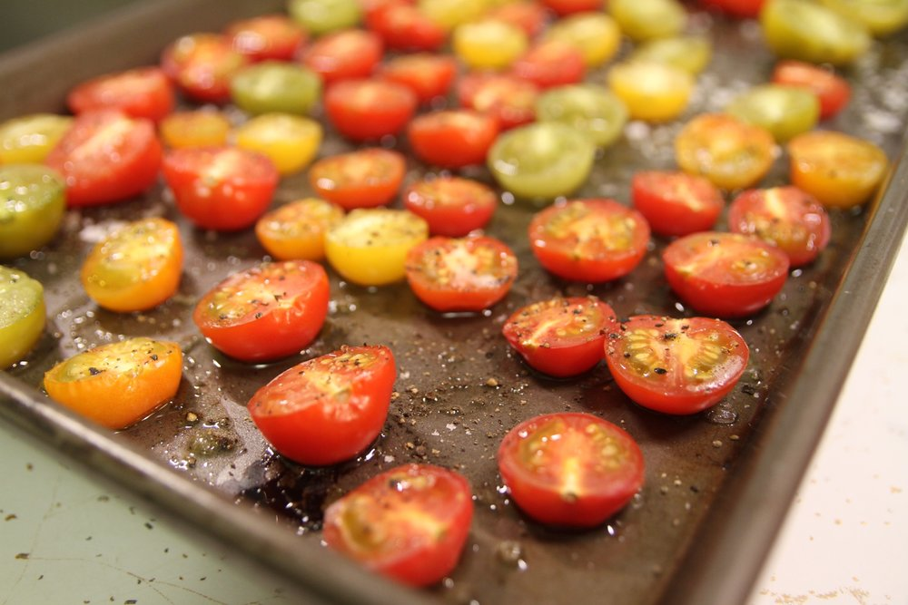 Roasted tomatoes are delicious even on their own!