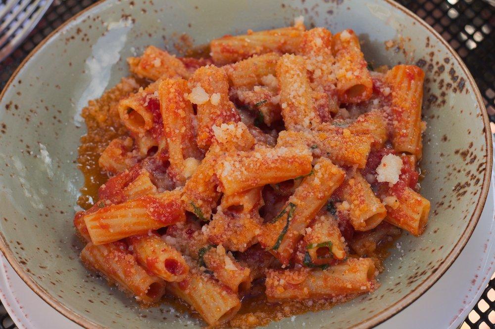 Pasta pomodoro with Parmesan