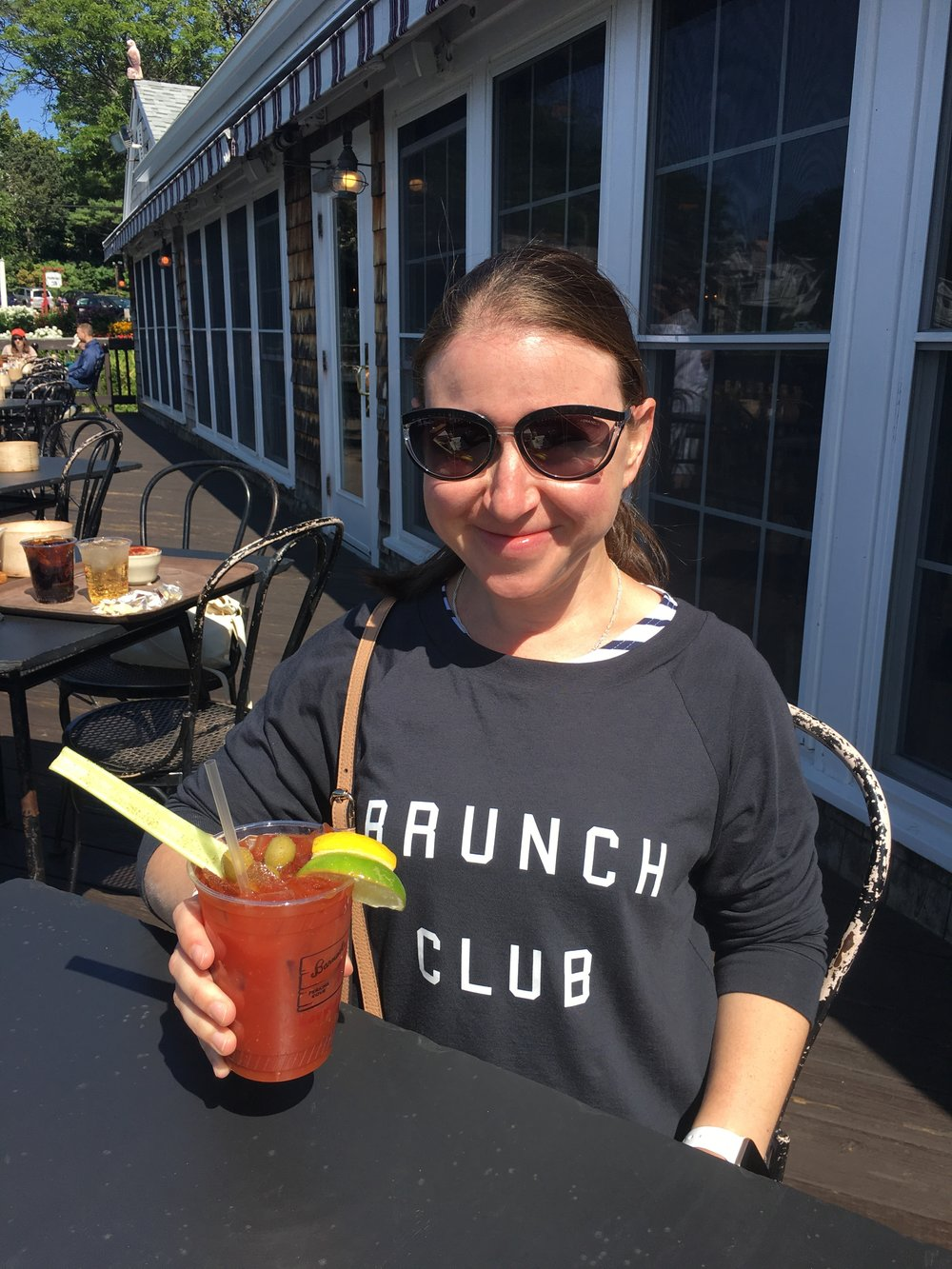 Yes, that's a Brunch Club shirt. I freaking love it. Softest shirt ever. And a bit appropriate (ironic?) given the Bloody Mary. C'est la vie!