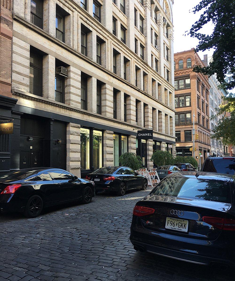 Cobblestone streets of SoHo.