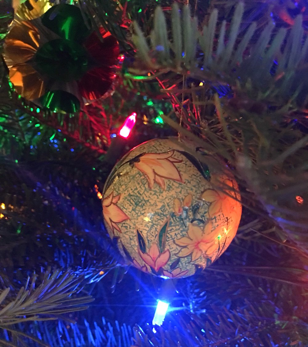 One of the very pretty ornaments on the tree!
