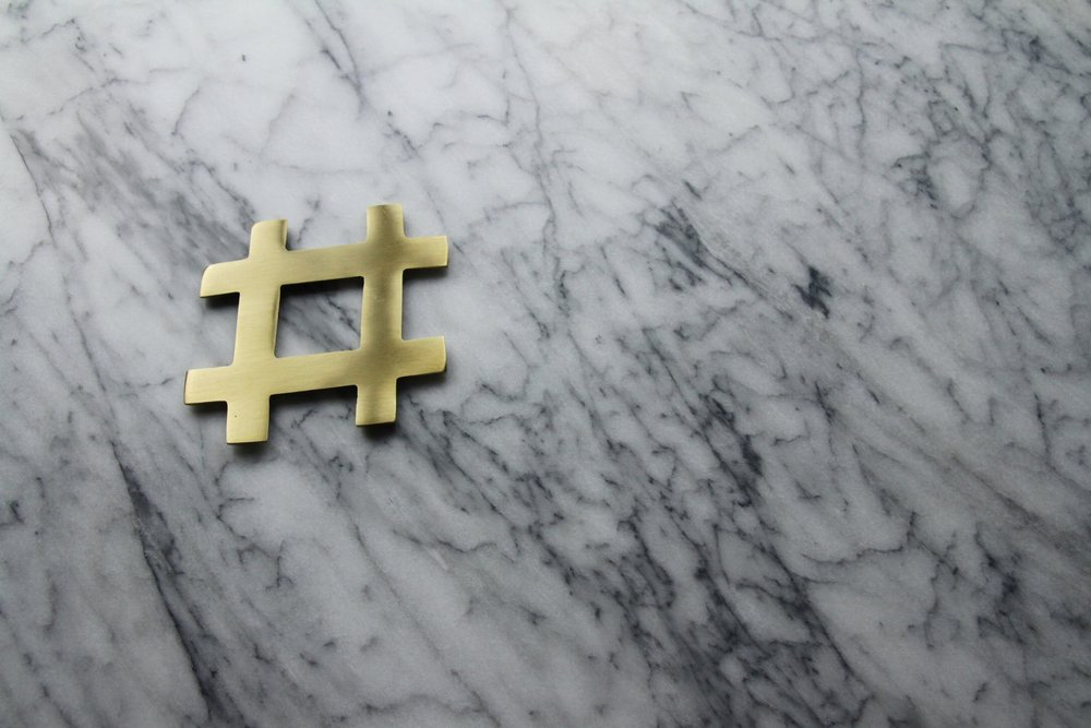 A sneak preview of what's to come! Brass hashtag coasters FTW.
