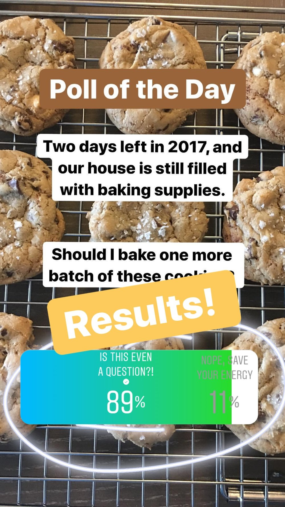 Ha! Well, if you've been following along, you know that we did make another batch of this dough, and actually baked the cookies on new year's day! Perhaps my best batch yet, I was very happy to see that you all were encouraging of my end-of-Year baking endeavor. And thankfully, this mindset is going to continue into 2018! Stay tuned...!