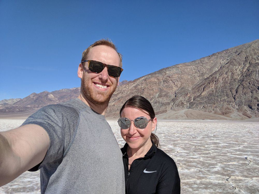 Badwater Basin in Badlands National Park: California! That's us! :)