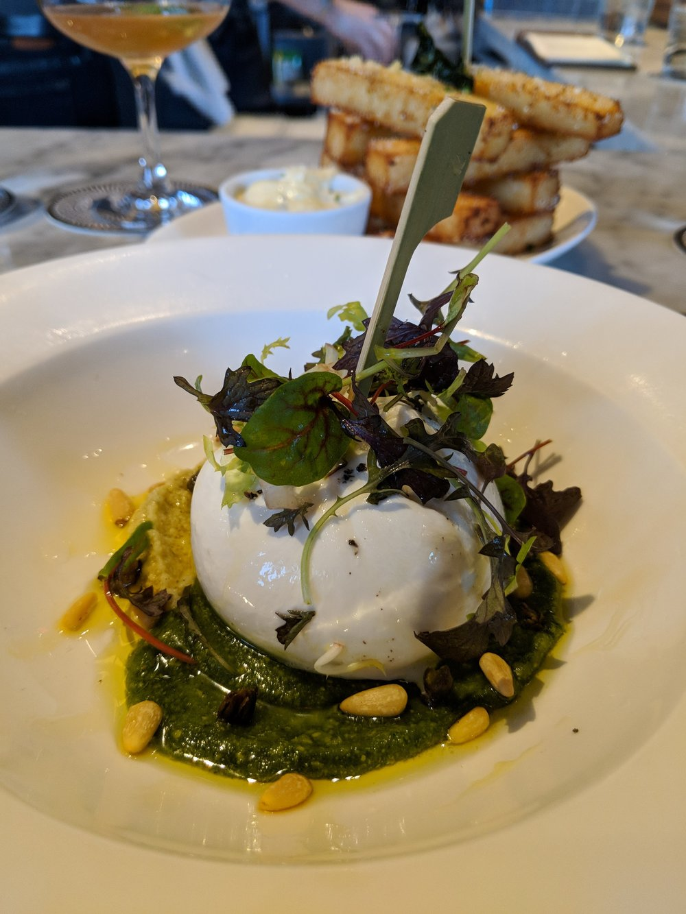 Yummy burrata!