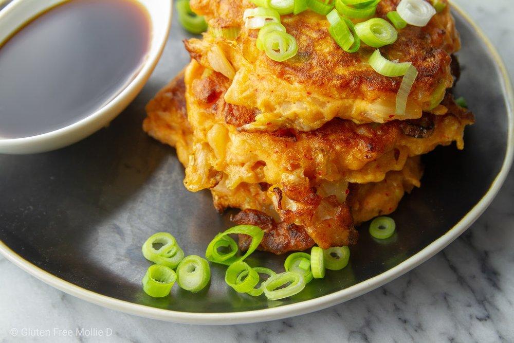 Kimchi pancakes. Love.