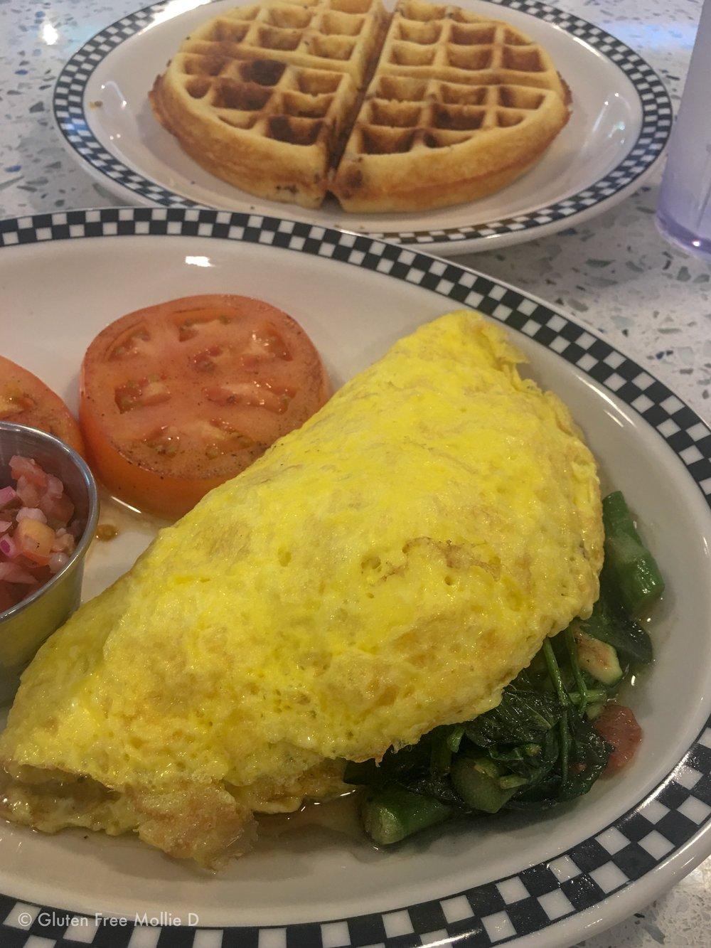 Veggie omelette.
