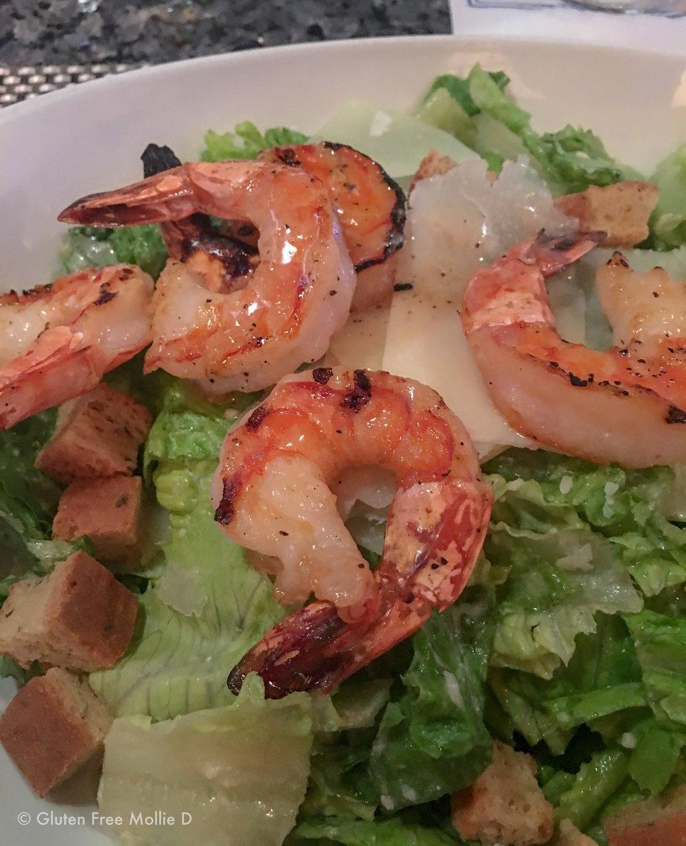 My go-to shrimp Caesar salad.