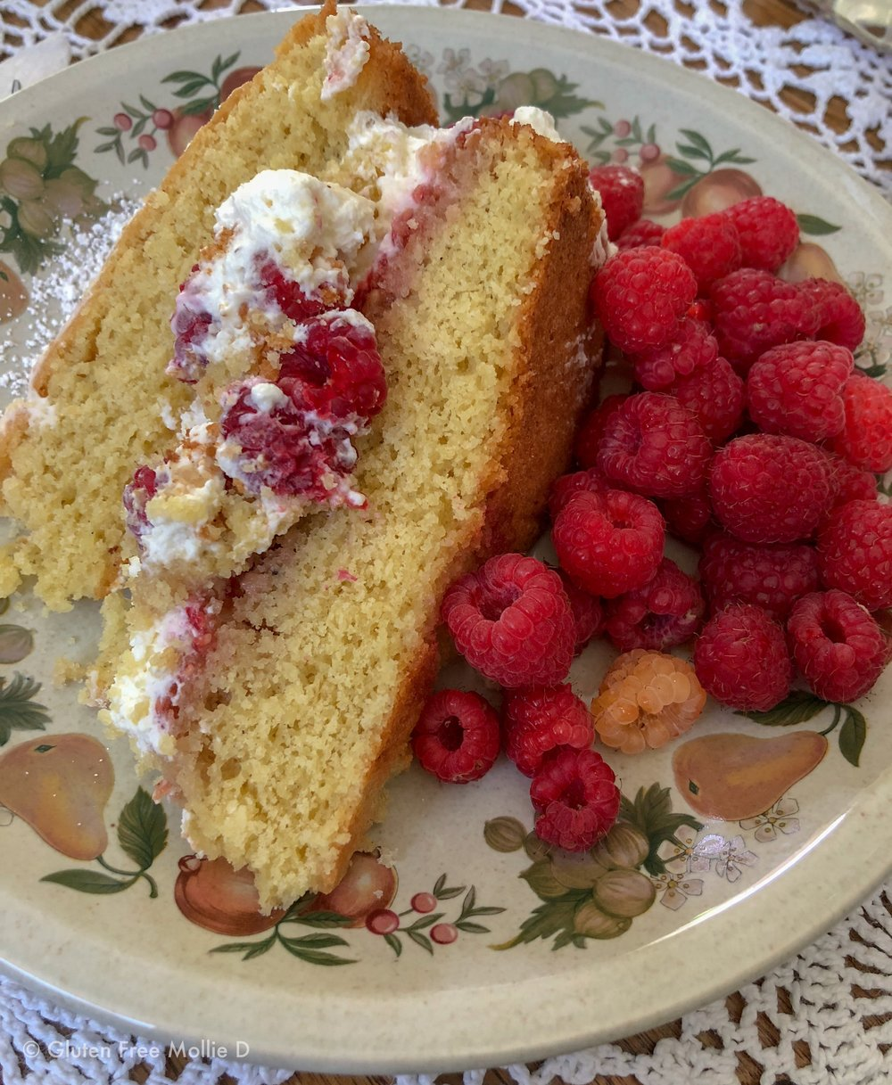 Gluten free raspberry cake made by Seth's mom. So good!