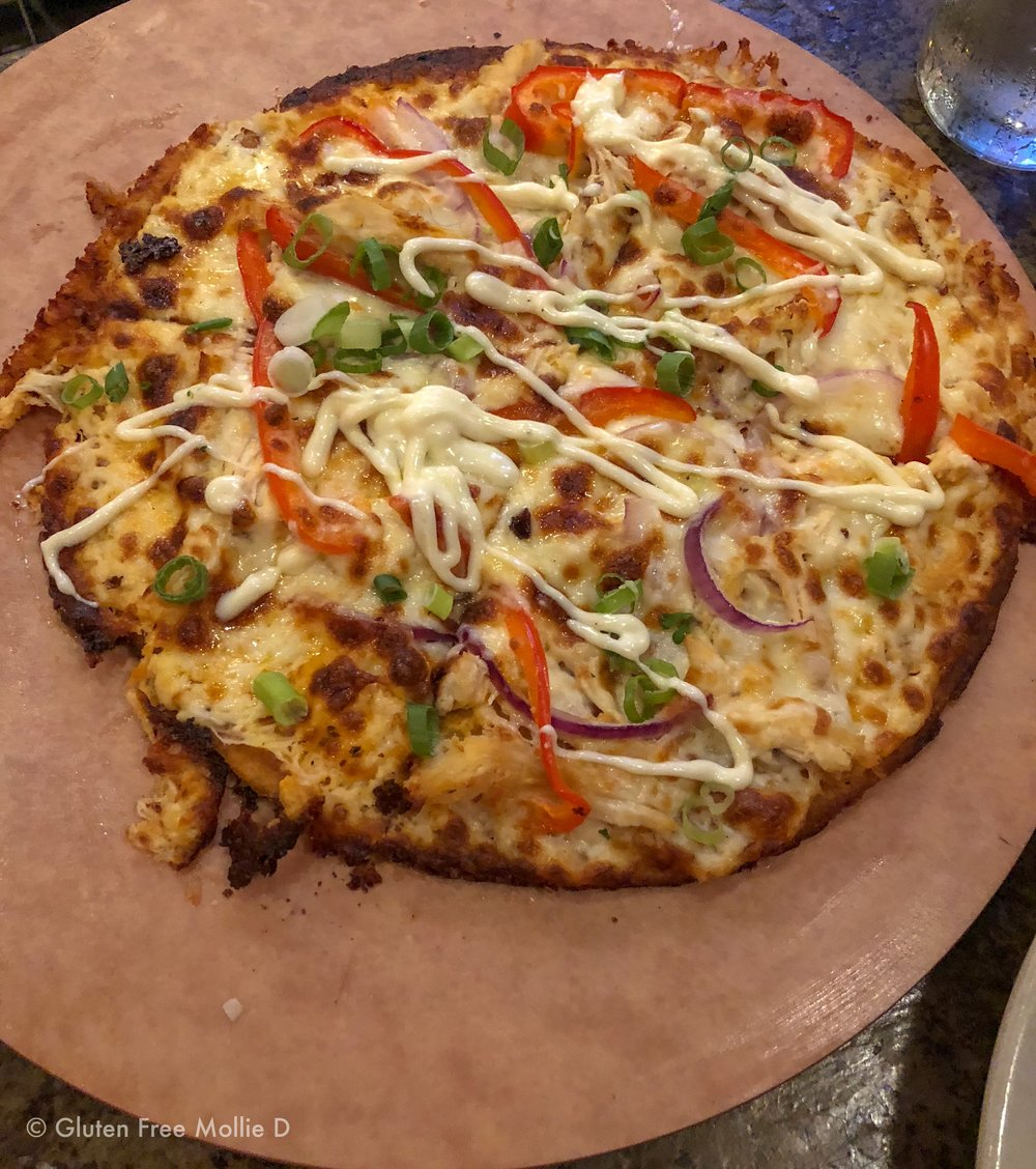 Buffalo chicken pizza.
