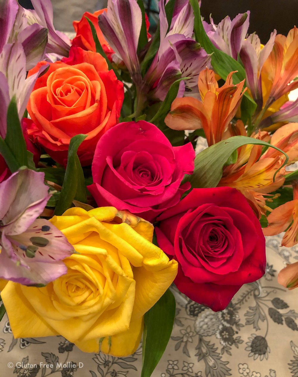 The brightest birthday roses. :)