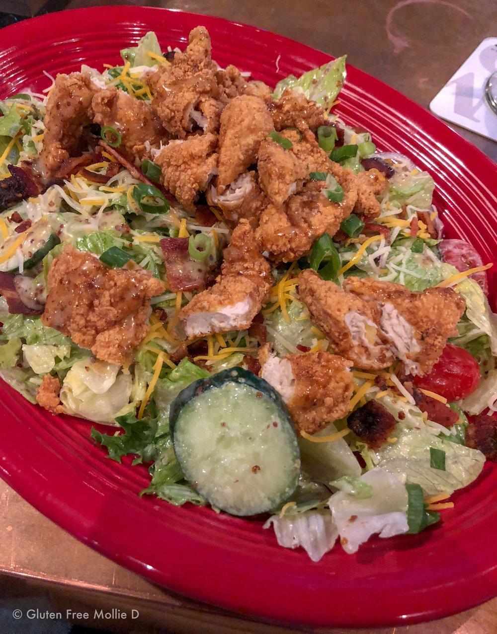 Crispy Chicken Honey Mustard Salad