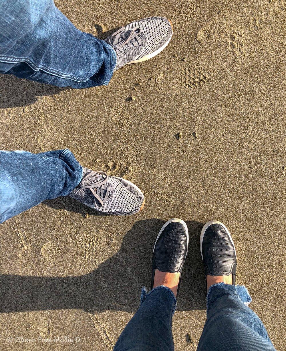 Evidence of a beach walk!
