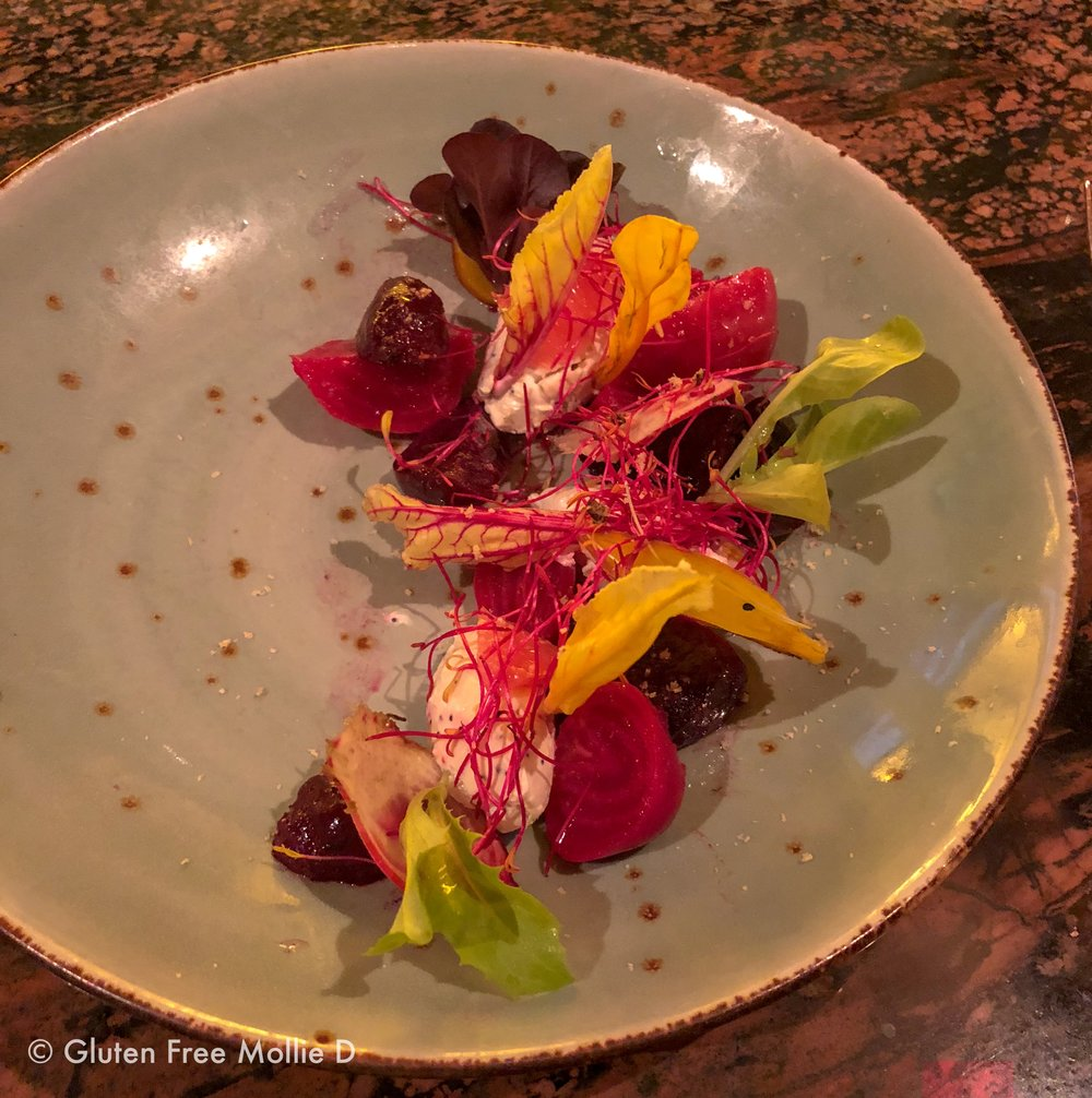 An elegant beet salad at Bristol.