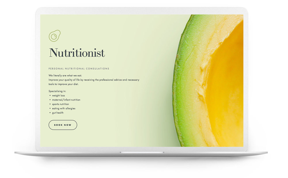 Squarespace website example - round table nutrition