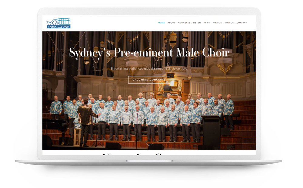 Squarespace website example - Sydney Male Choir