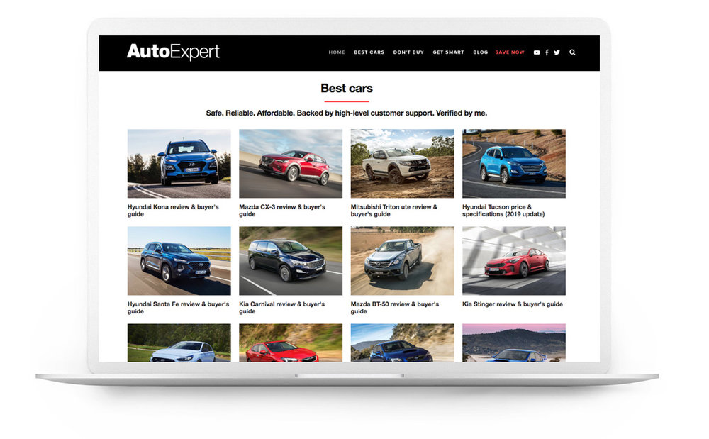 Squarespace website example - auto expert - John Cadogan