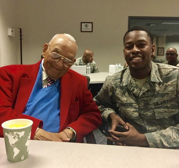 Tuskegee Airmen Lt. Col. Robert J. Friend (Ret) with Private Pilot Andre Sanders