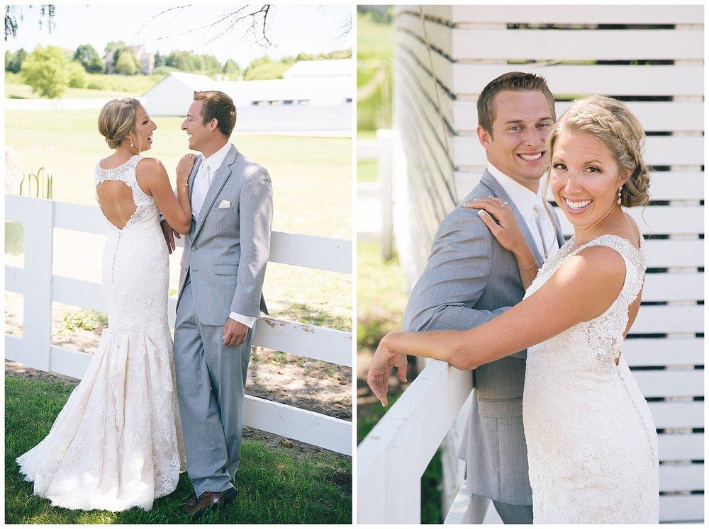 Lauren Baker Photography bride and groom Dellwood Barn Weddings