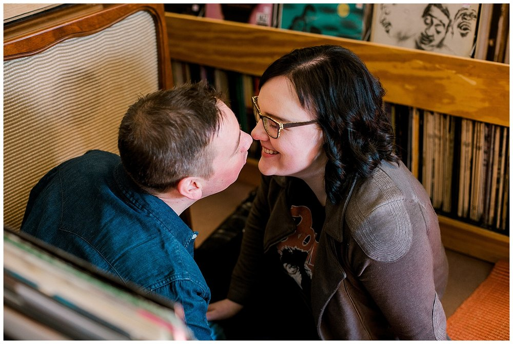 Lauren Baker Photography Hymie's Vintage Record engagement session
