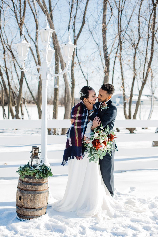Lauren Baker Photography bride and groom outside Green Acres Event Center