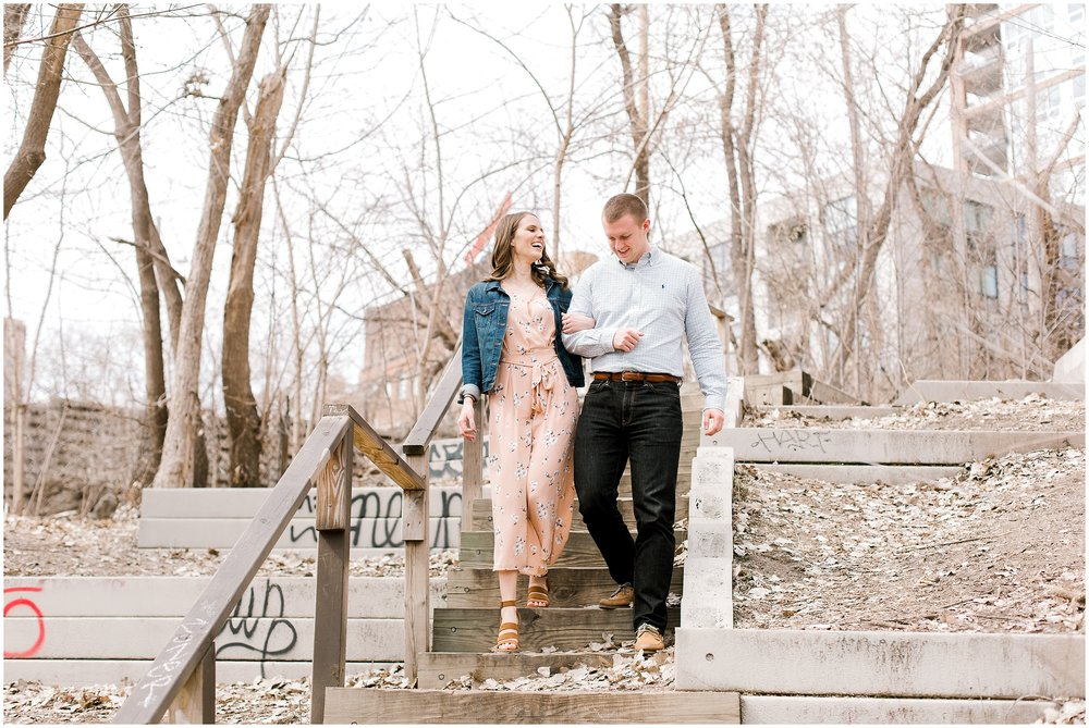 St. Anthony Main engagement session with Lauren Baker Photography Wedding photographer Minnesota