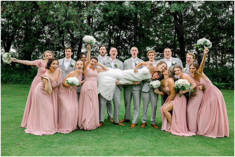Bunker Hills Golf Course summer wedding Lauren Baker Photography