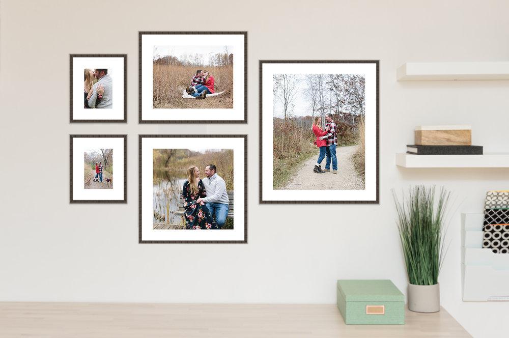 Lauren Baker Photography MN wedding photographer frames